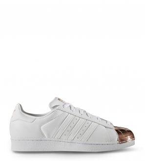 Adidas - Baskets Superstar blanc/rose gold