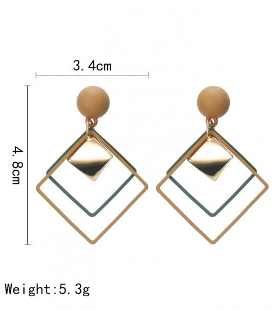 Boucle d'oreille forme géométrique