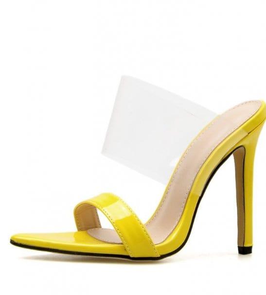 Sandales à talon bride transparente Lindsay