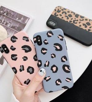 Coque pour Iphone imprimé léopard