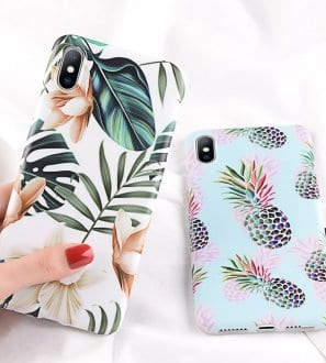Coque imprimé tropical pour Iphone