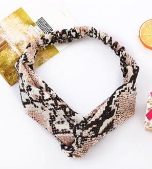 Headband imprimé animal pour femme