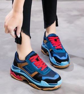Sneakers à semelle épaisse Jodie