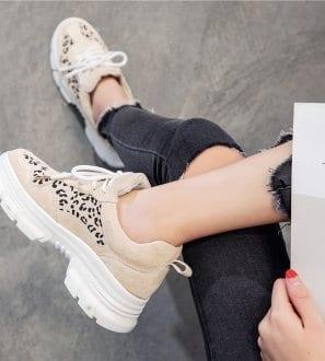 Sneakers imprimé léopard Mia