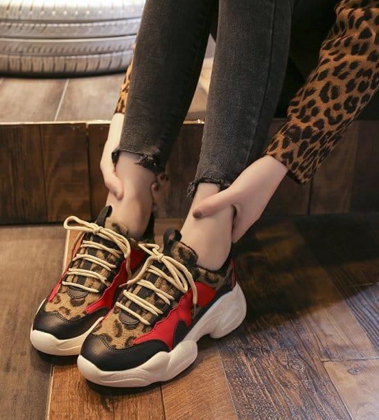 Baskets imprimé léopard Cassie