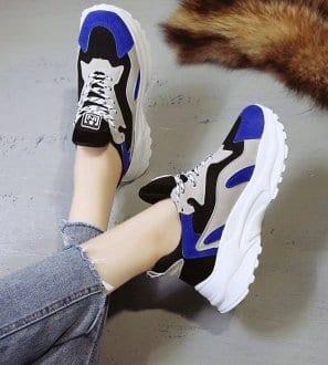 Baskets Daddy's Shoes bicolore Alyssa