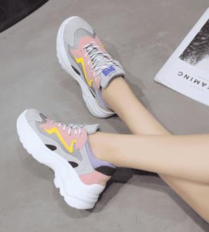 Sneakers colorées à semelle épaisse Kelly